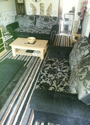 Carpet fitted Sofa made